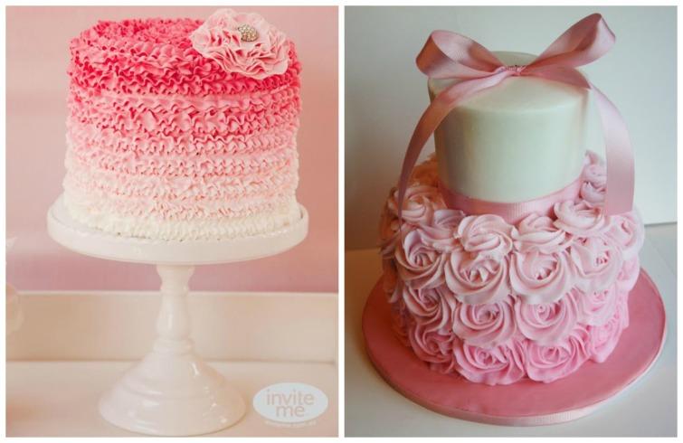 Achei uma graça esses bolos, o primeiro pra mim é o mais lindo.  O segundo quis trazer de exemplo, pois imita uma saia de bailarina, acho que podem gostar.
