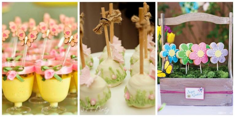 Pra mim os próprios doces devem servir como decoração da mesa, com delicadeza é capaz de torná-los enfeites lindos.