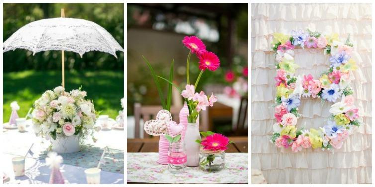 mesa de festa jardim encantado:Alguns arranjos para a festa. Linda a ideia de por essa sombrinha de